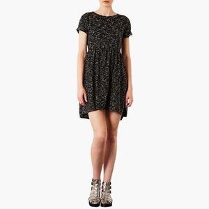 TOPSHOP Speckled Black Jersey Dress